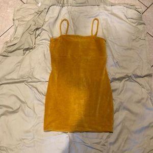Mustard corduroy dress
